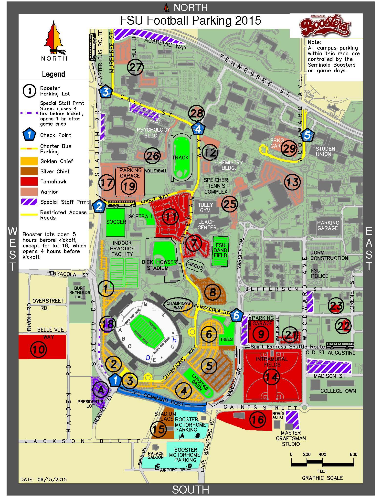 Doak Campbell Stadium Seating & Parking   Tallahassee Seminole Club - University Of Florida Football Stadium Map
