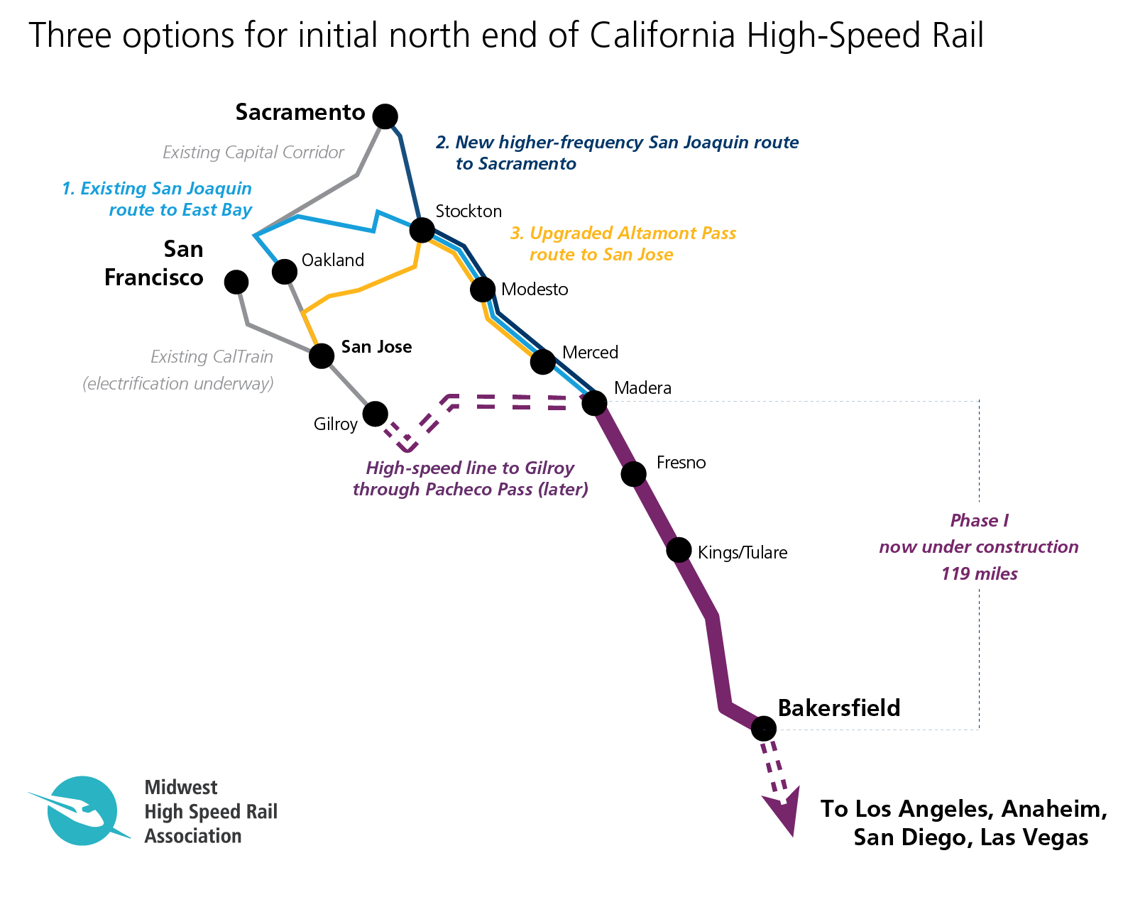 Does California Have More Options Than It Realizes For First High - California High Speed Rail Map