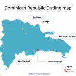 Dominican Republic Map Templates   Free Powerpoint Templates   Free Printable Map Of Dominican Republic