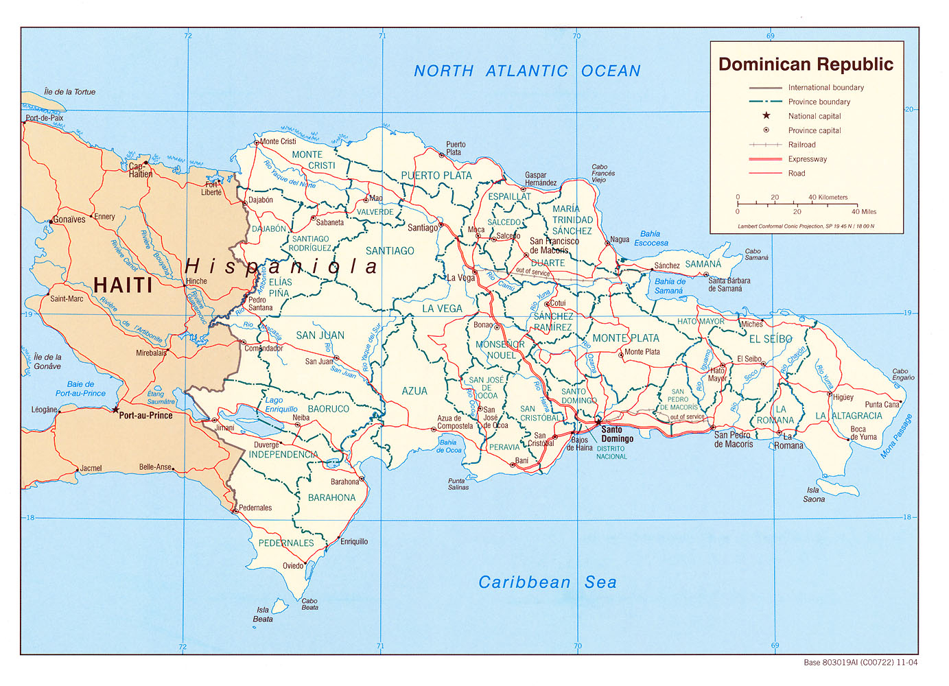 Dominican Republic Maps - Perry-Castañeda Map Collection - Ut - Free Printable Map Of Dominican Republic