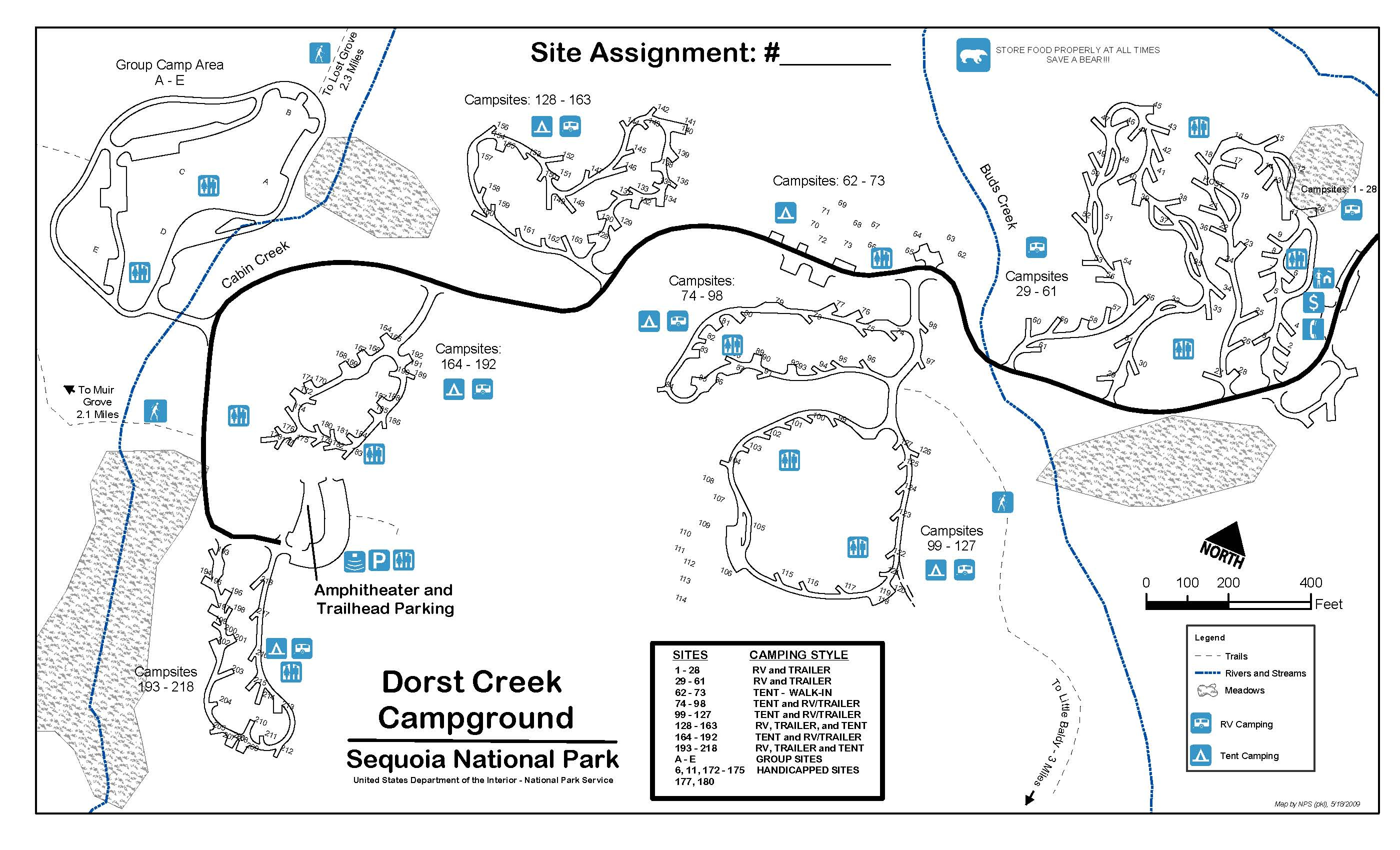 Dorst Creek Campground - Sequoia & Kings Canyon National Parks (U.s. - Sequoia Park California Map
