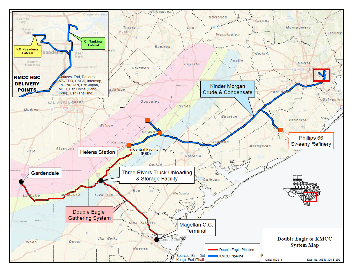 Double Eagle Pipeline Announces Expansion To Allow More Eagle Ford - Kinder Morgan Pipeline Map Texas