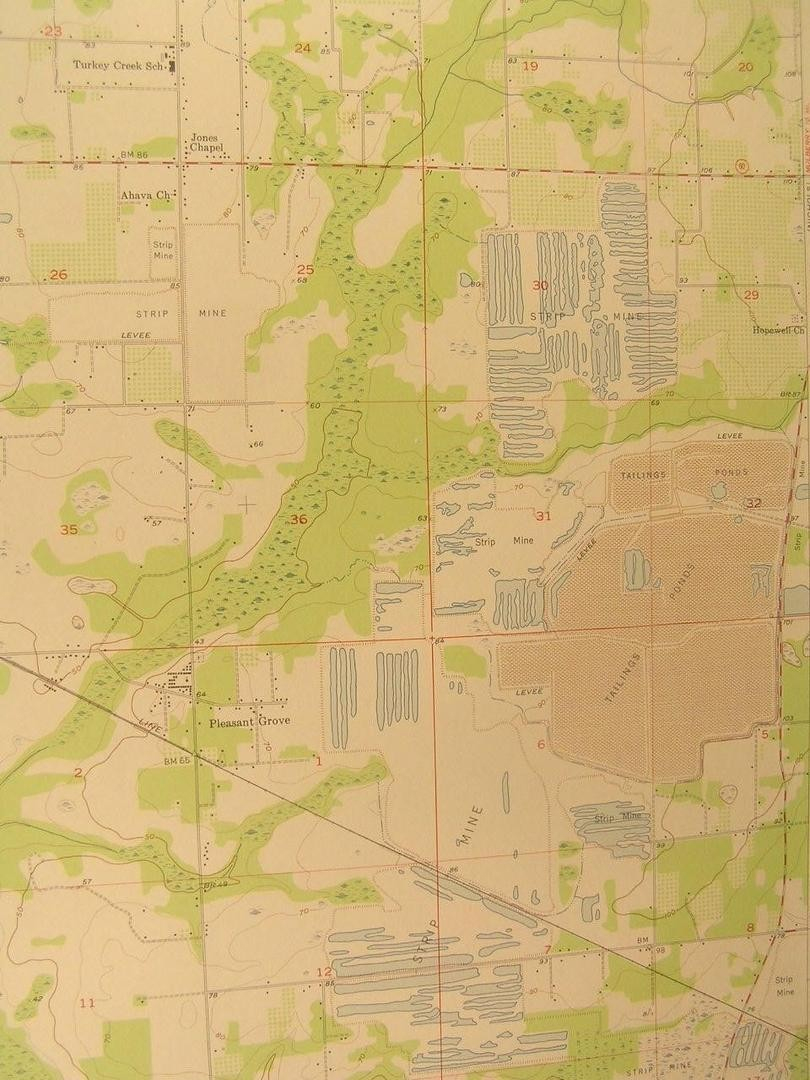 Dover Florida Bloomingdale Strip Mines 1956 Vintage Usgs Original - Dover Florida Map