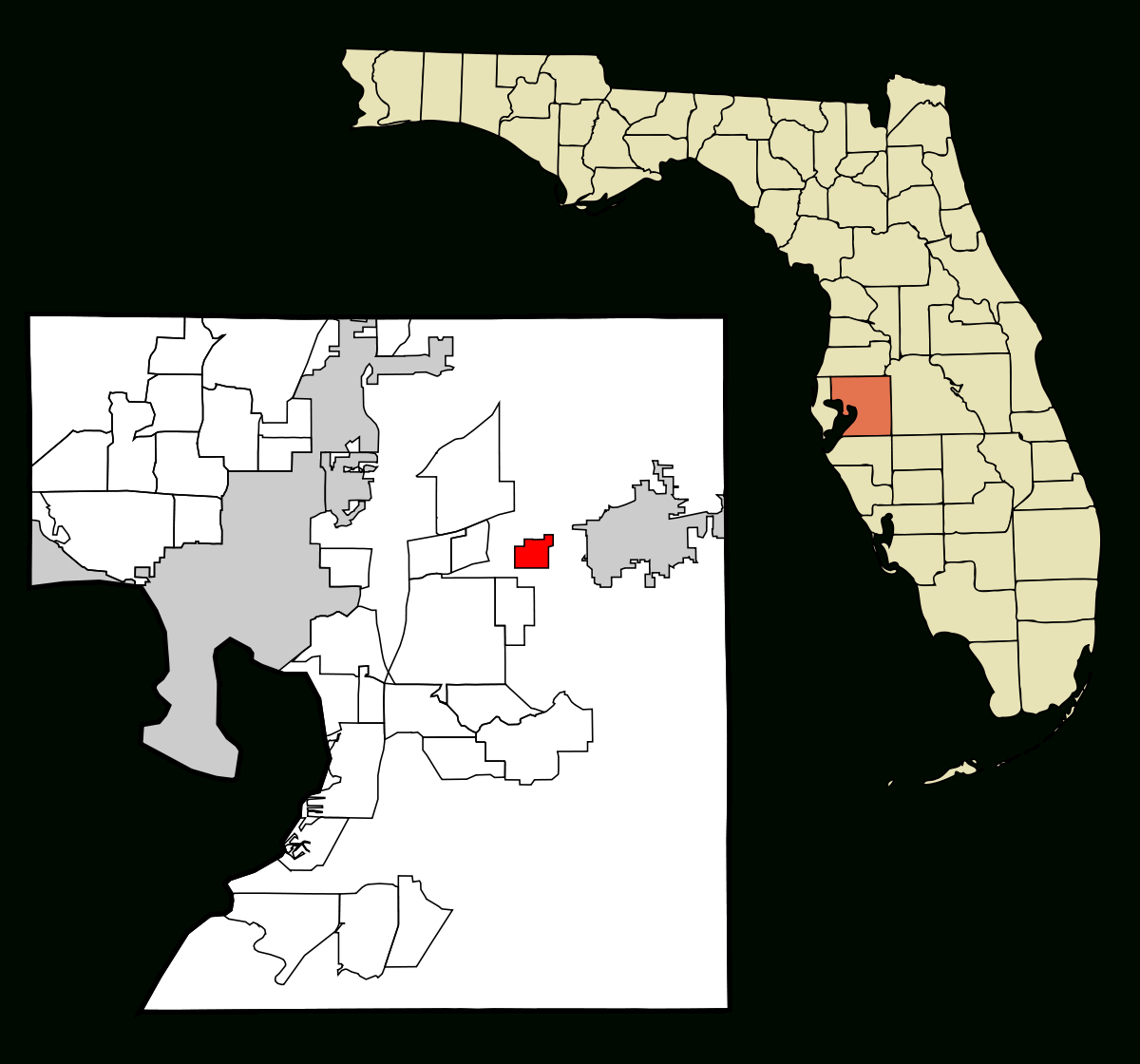 Dover, Florida - Wikipedia - Dover Florida Map