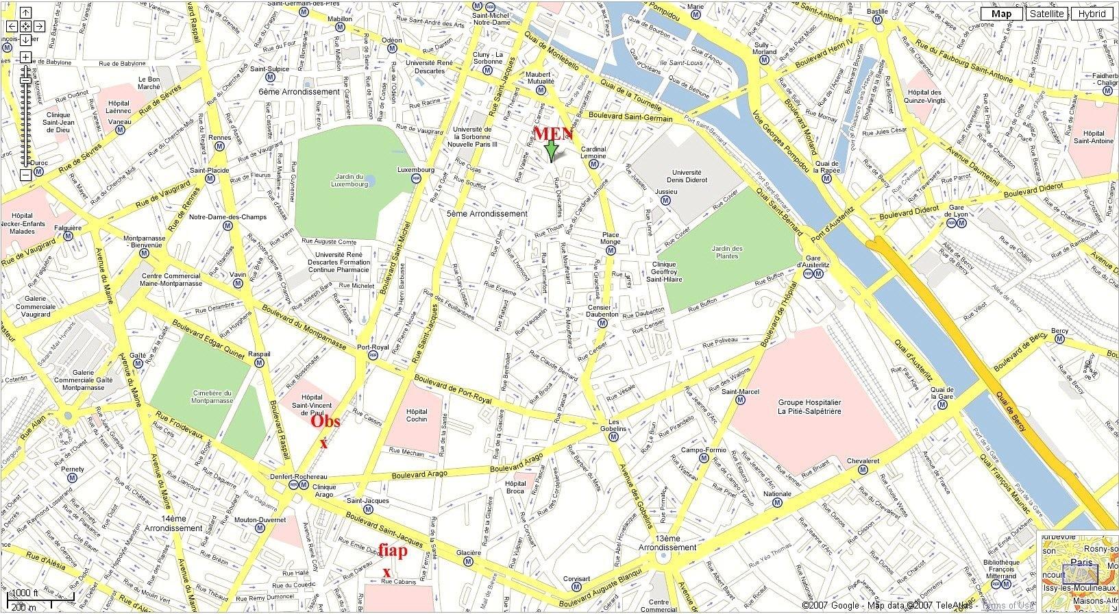 Download Street Map Paris France Major Tourist Attractions Maps And - Printable Tourist Map Of Paris France