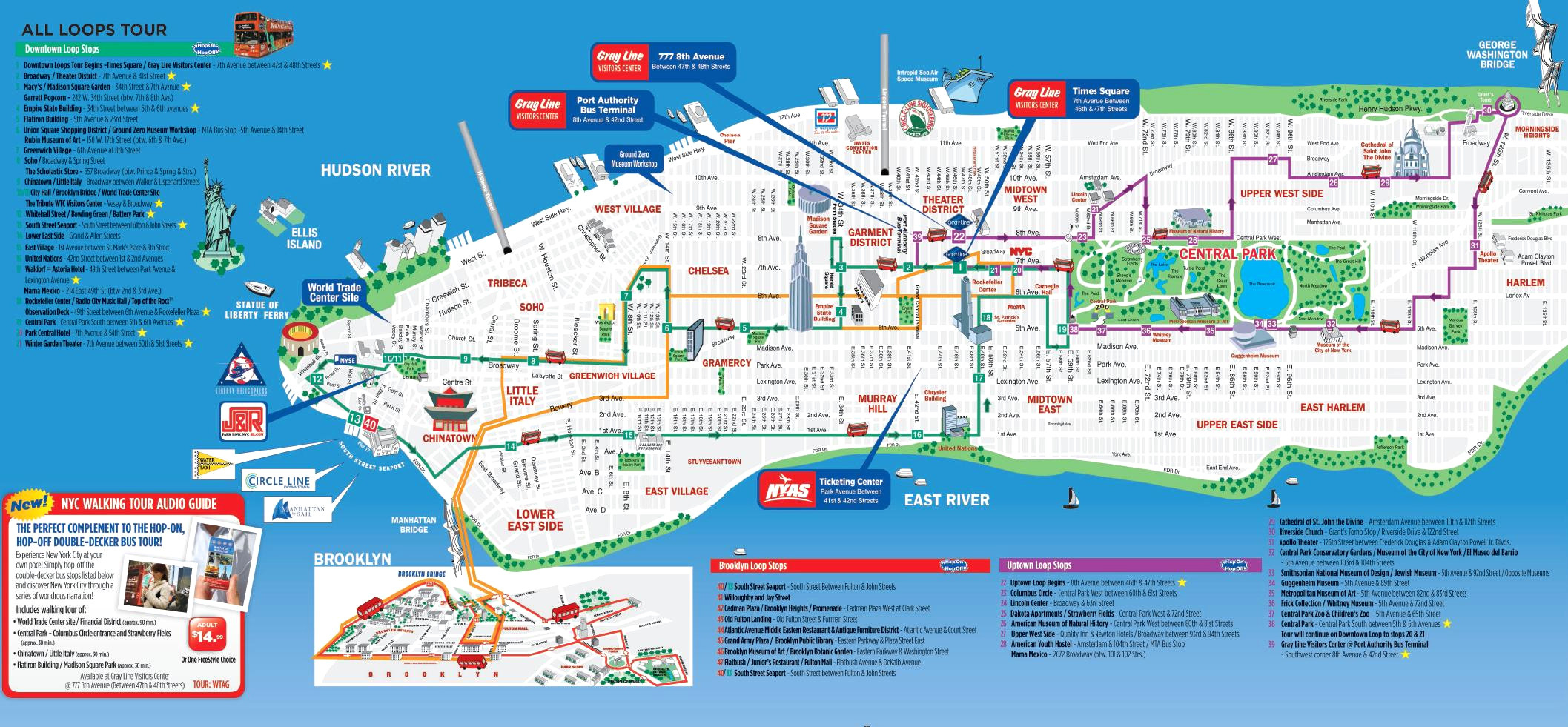 Download Tourist Map Of New York City Printable Major At Nyc And - Printable Tourist Map Of Manhattan