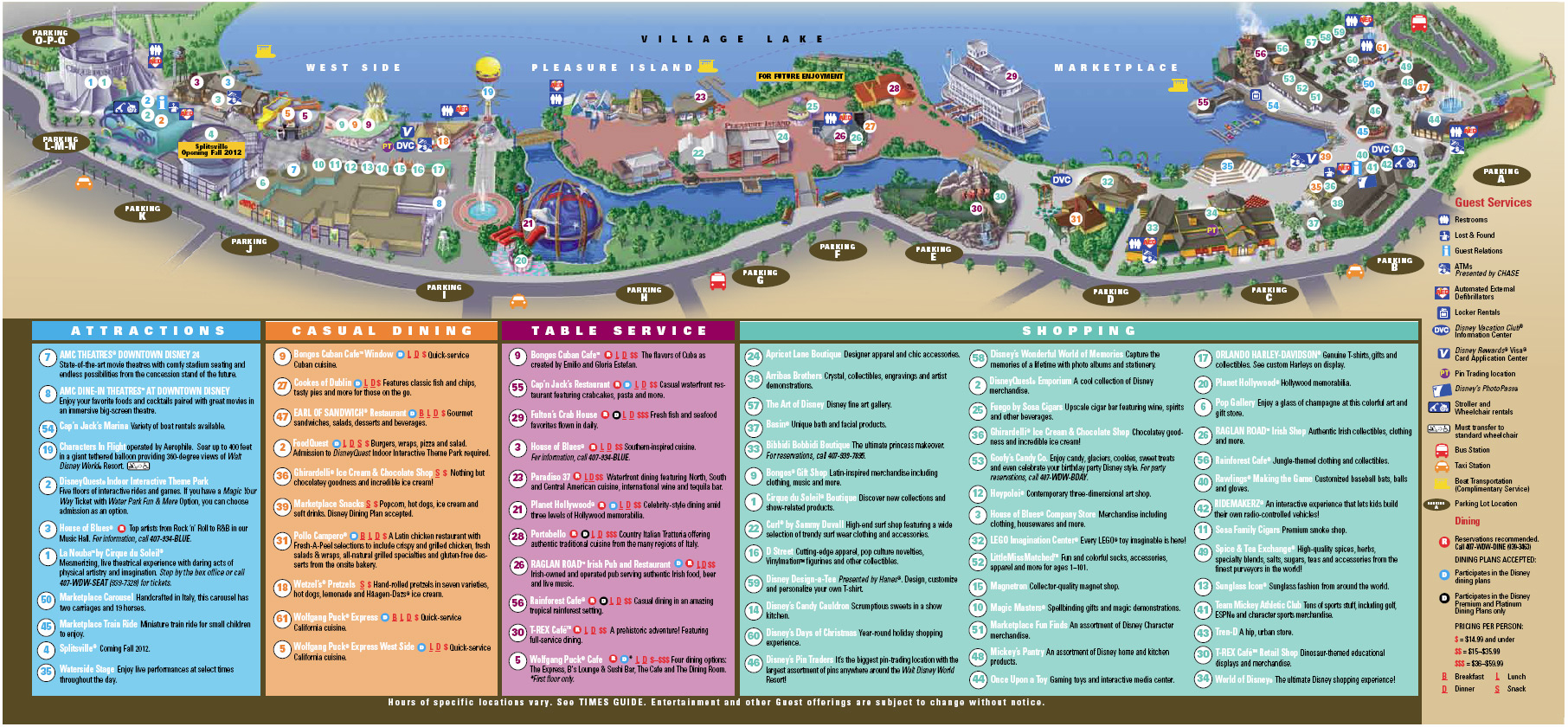 Downtown Disney Florida Map | Park Ideas - Map Of Downtown Disney Orlando Florida