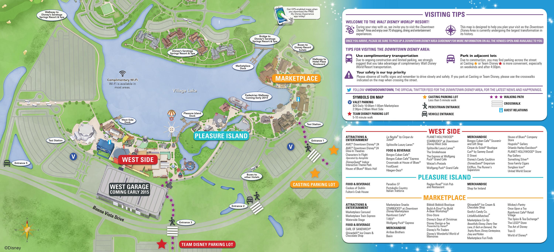 Downtown Disney Parking Information & Tips | Disney Parks Blog - Disney Springs Florida Map