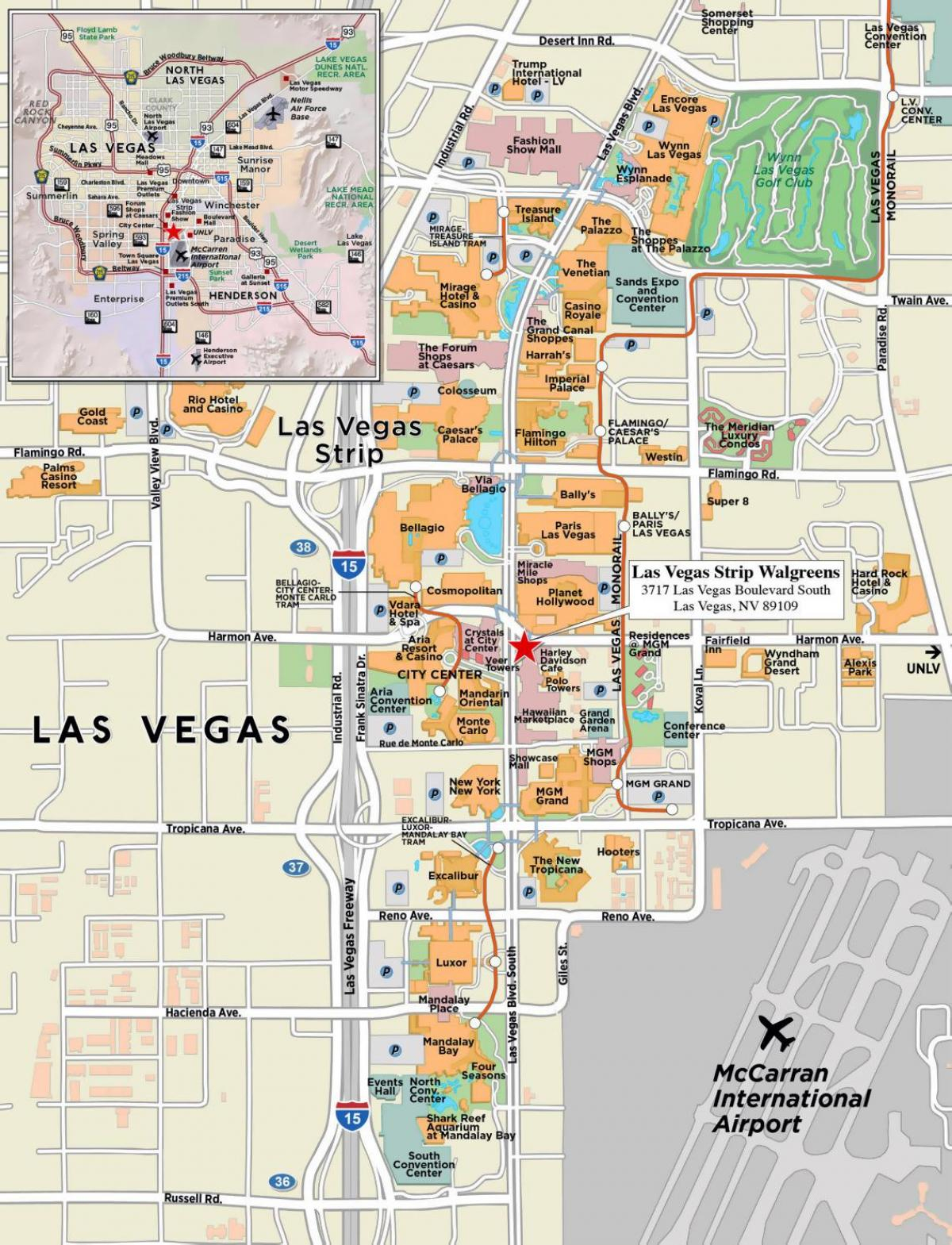 Downtown Las Vegas Map - Map Of Downtown Las Vegas (United States Of - Printable Map Of Downtown Las Vegas
