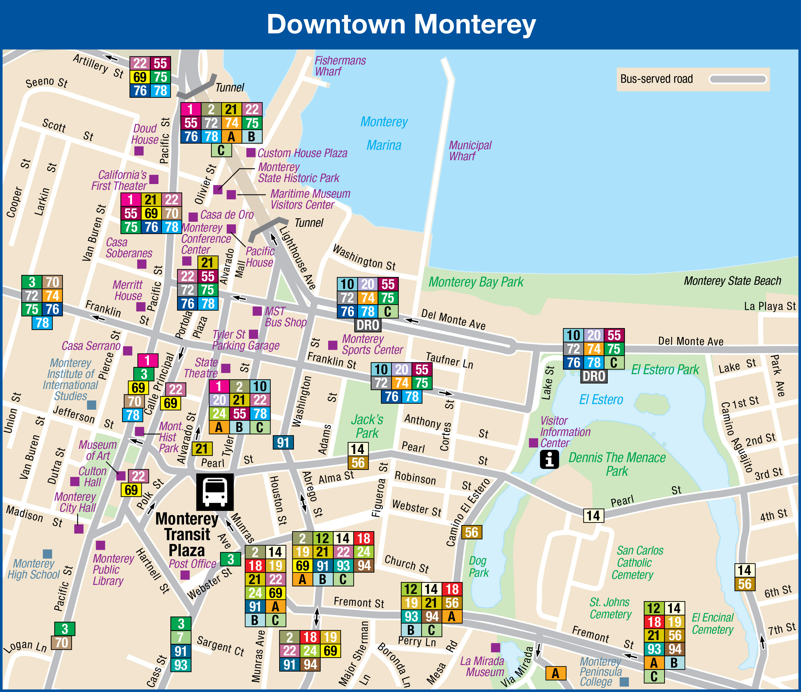 Downtown Monterey Maps Of California Where Is Monterey California On - Where Is Monterey California On The Map