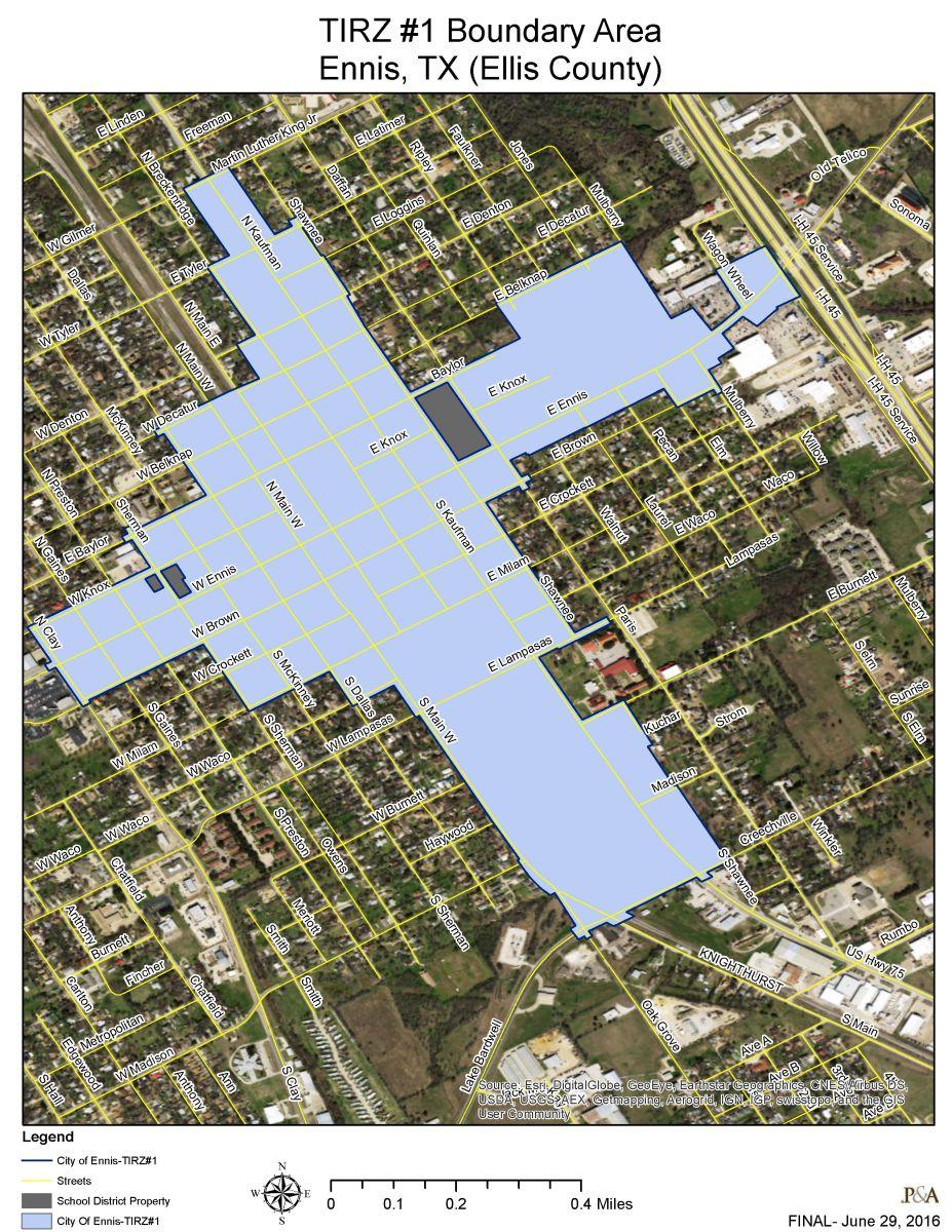 Downtown Projects   Ennis Tx   Economic Development Corp. - Ennis Texas Map