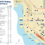 Downtown San Diego Hotel Map Map Outline San Diego California On A   California Hotel Map