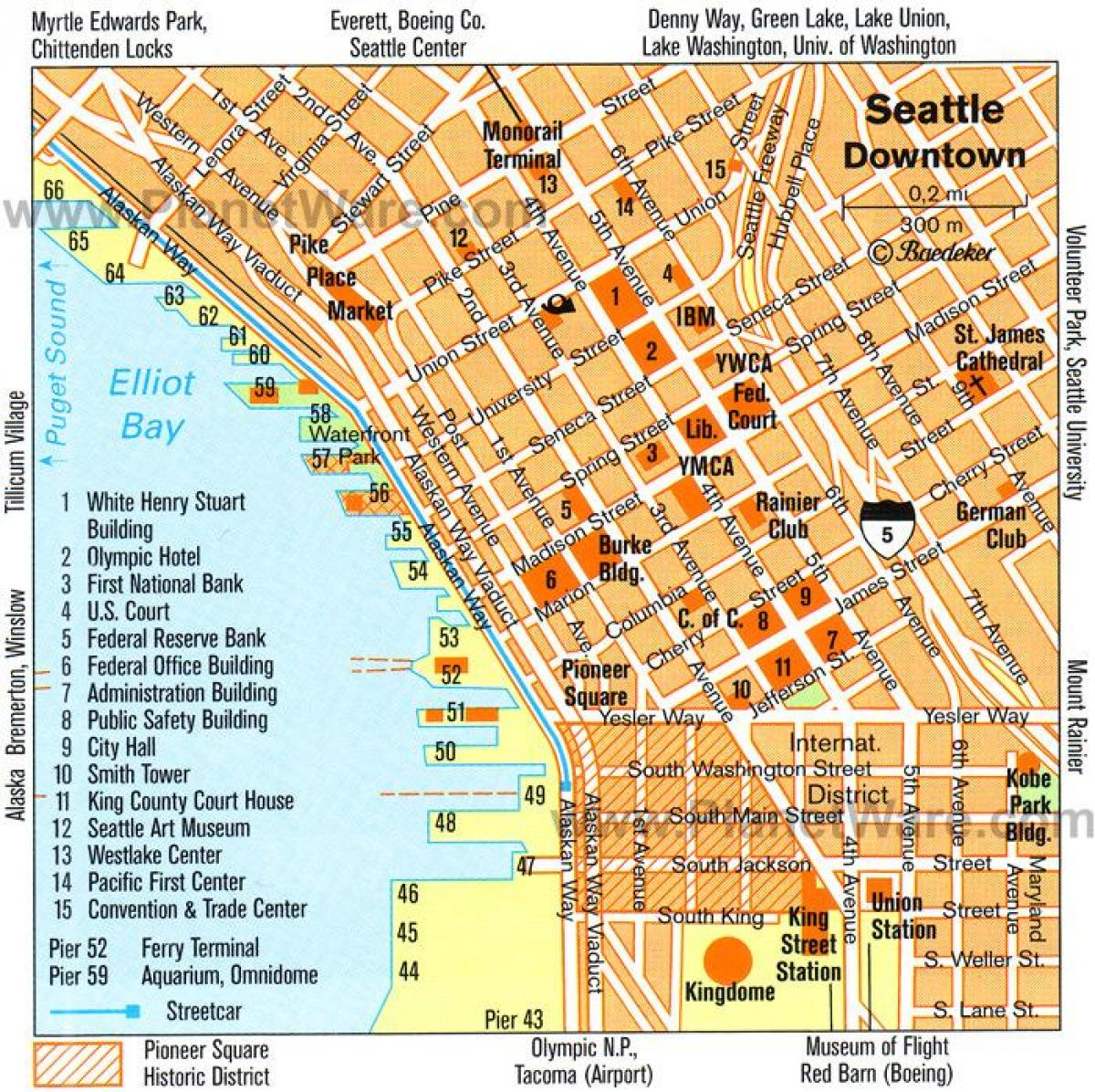 Downtown Seattle Walking Map - Walking Map Of Downtown Seattle - Printable Map Of Downtown Seattle