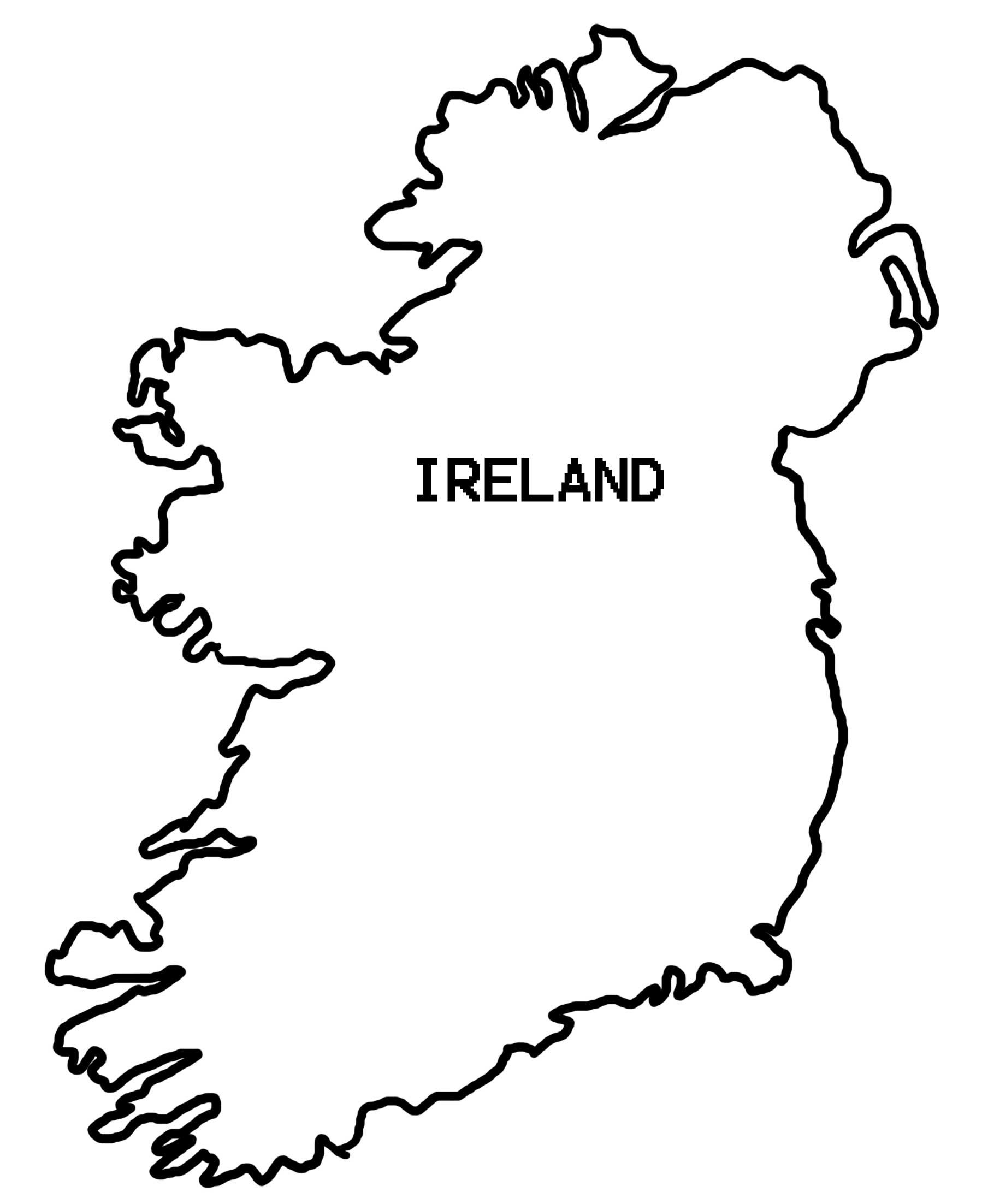 Drawing Ireland Map Outline 52 For Your Free Online With Ireland Map - Printable Black And White Map Of Ireland