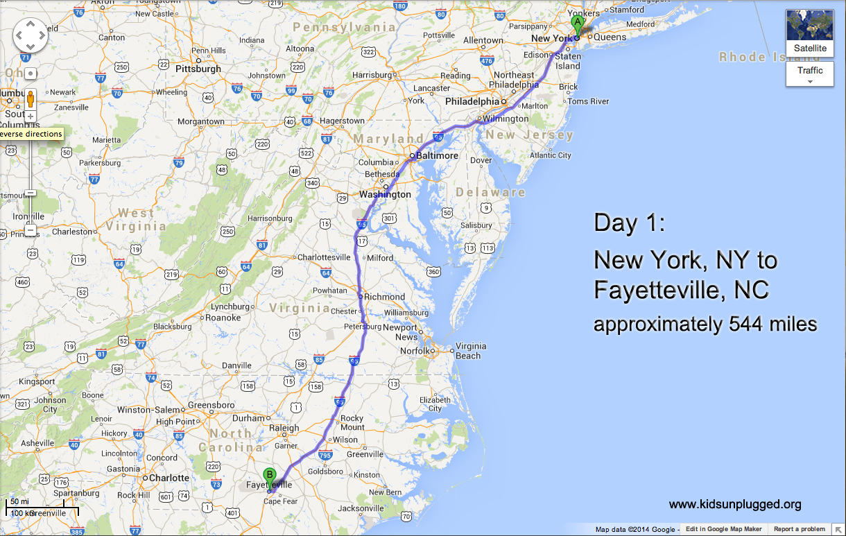 Driving From New York To Florida – A Step-By-Step Itinerary | Kids - Map Of I 95 From Nj To Florida