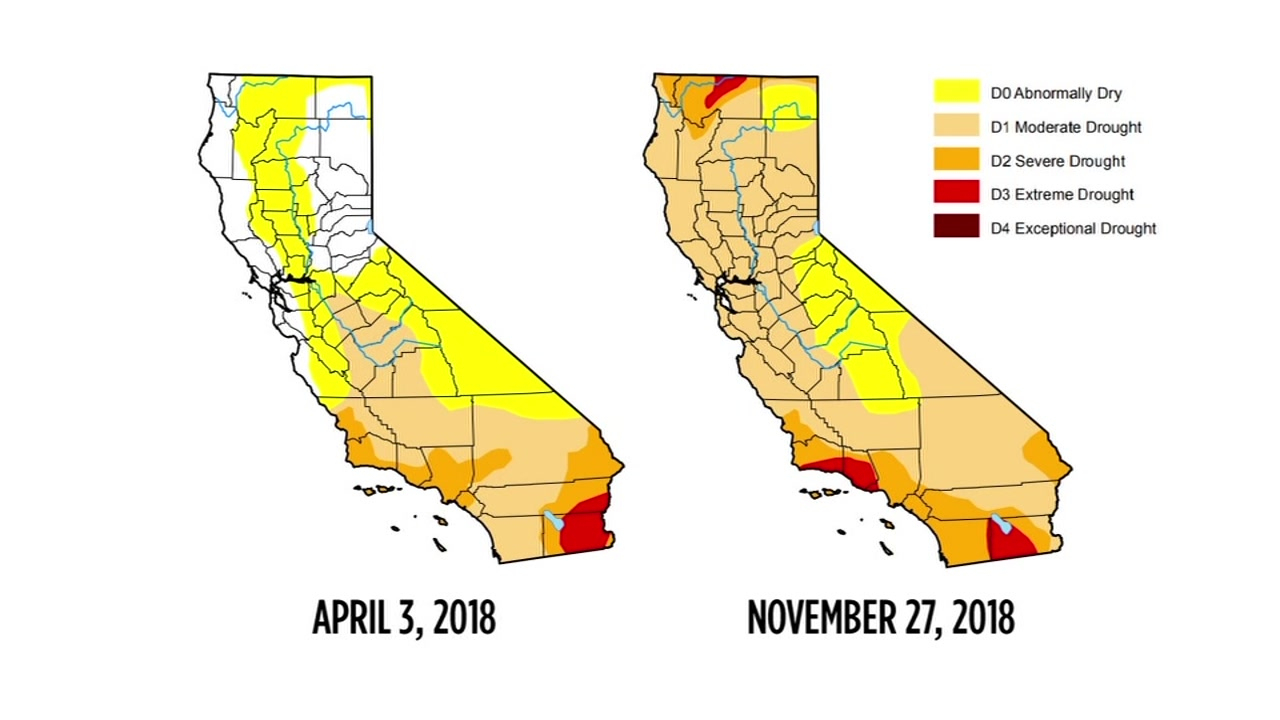 Drought Map Shows Recent Storm Has Not Helped Conditions In - California Drought Map 2017