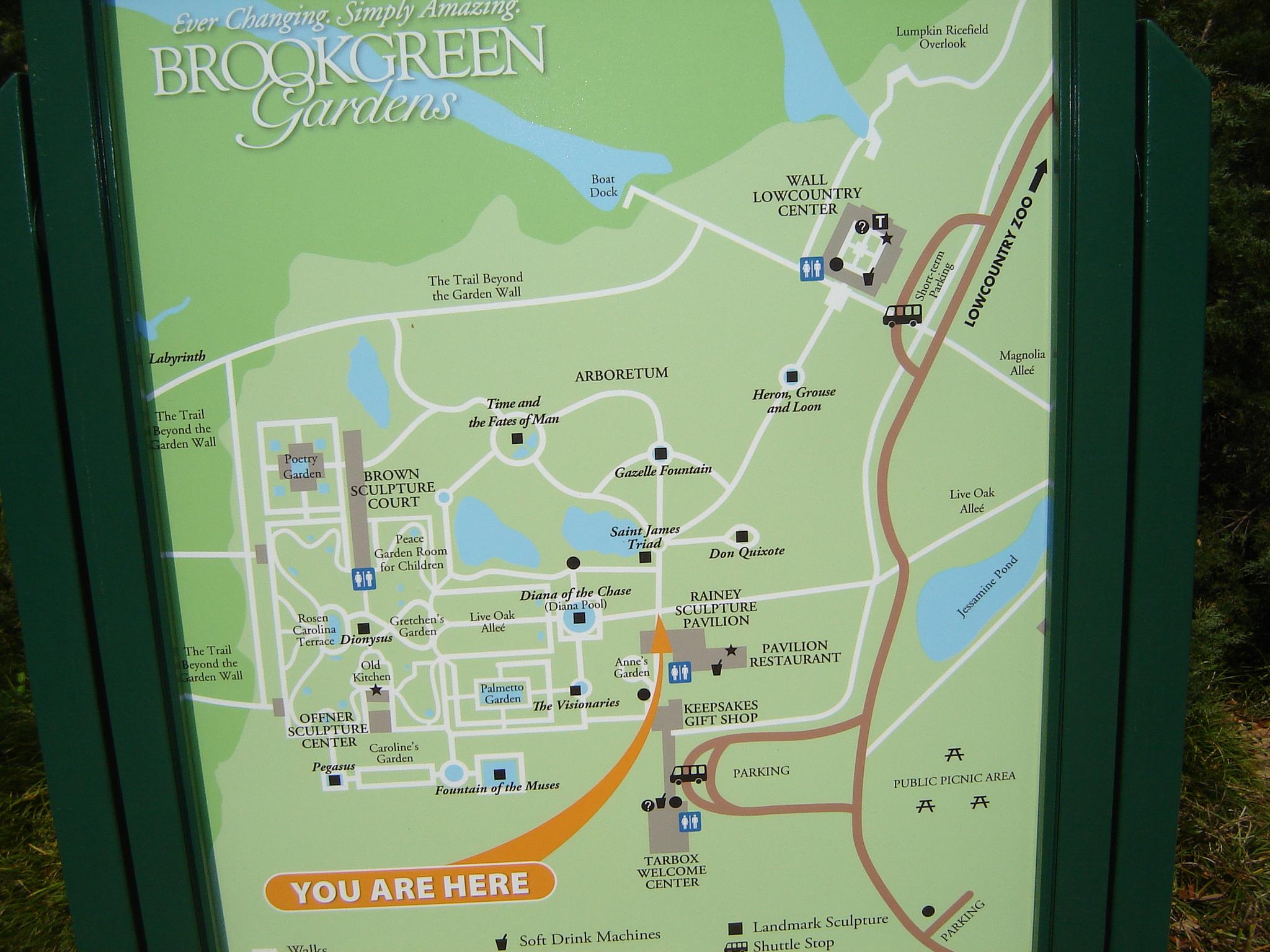 Dsc08613 | Nice Orientation Map Of Brookgreen Gardens. | Pete - Brookgreen Gardens Printable Map