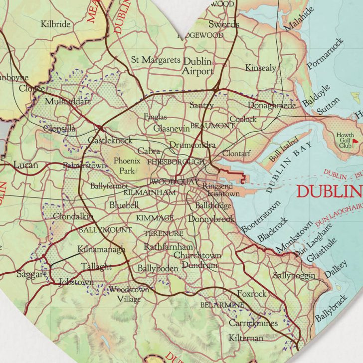Printable Map Of Dublin