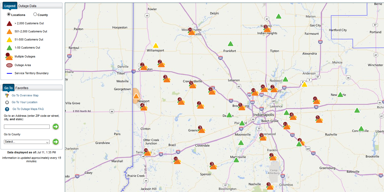 Duke Energy Ohio Outage Mapbest Picture Indiana Duke Energy - Duke Florida Outage Map