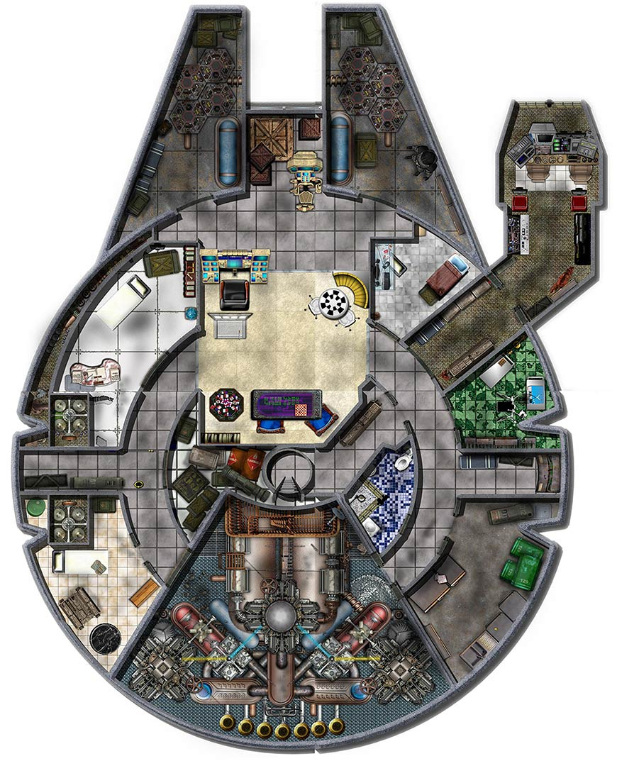 Dundjinni Mapping Software - Forums: Star Wars Freighter - Star Wars Miniatures Printable Maps