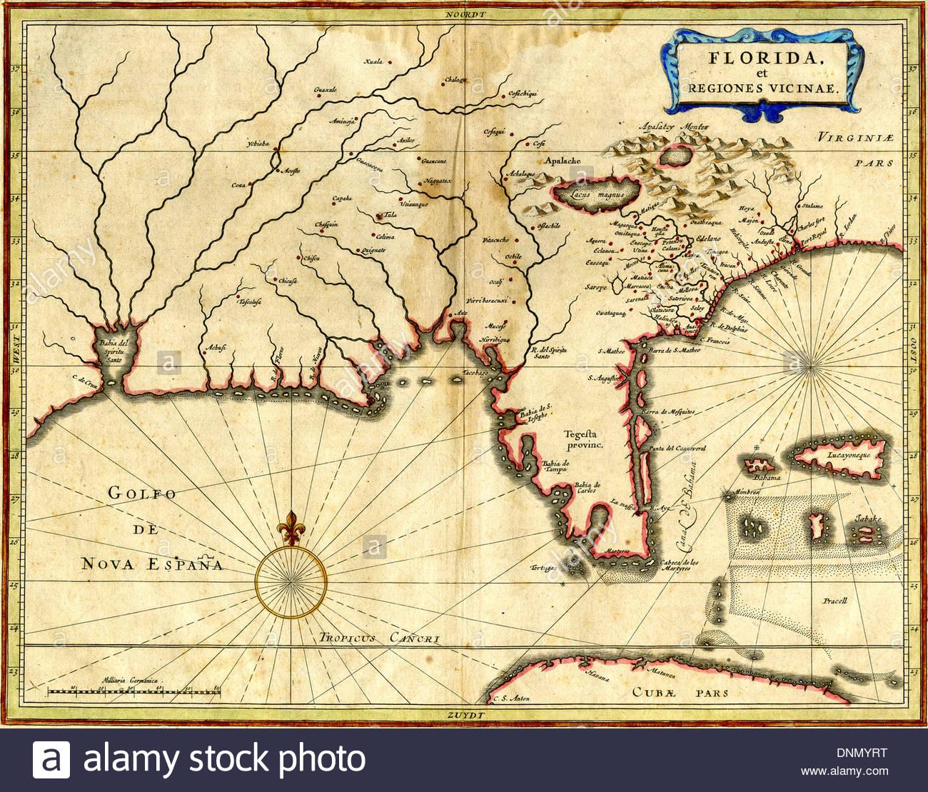 Early Florida Maps Stock Photos & Early Florida Maps Stock Images - Early Florida Maps