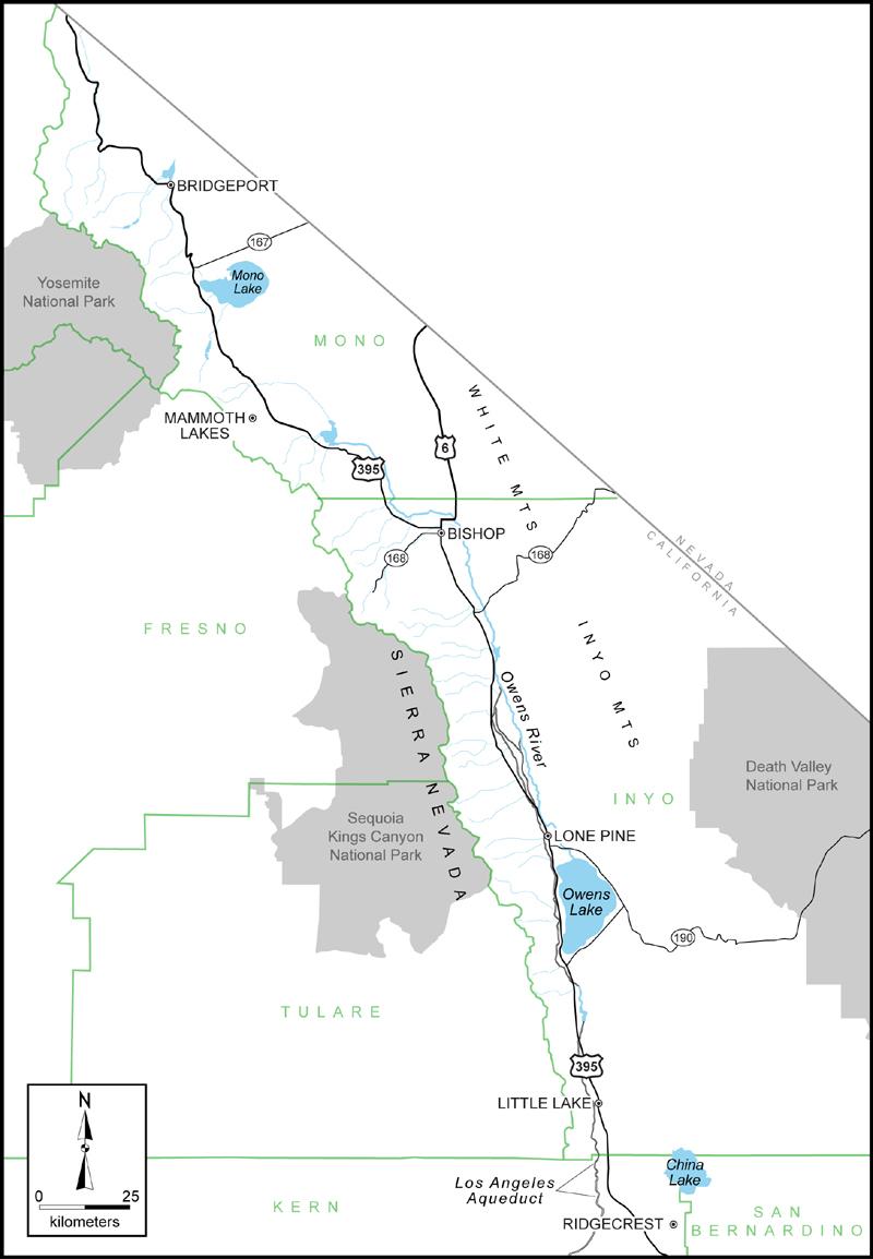Eastern Sierra Outreach - Map Eastern Sierras California