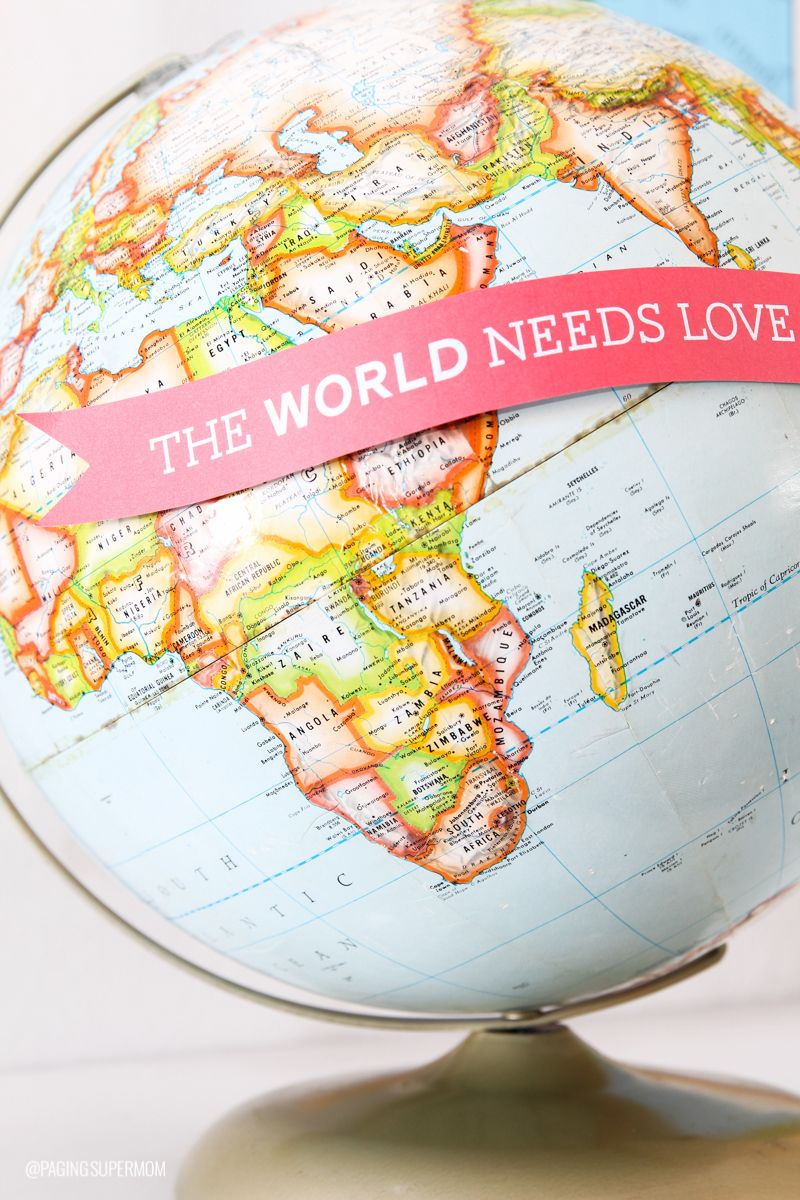 Easy Valentine's Decor Ideas From | All Time Favorite Printables - Printable Map Banner