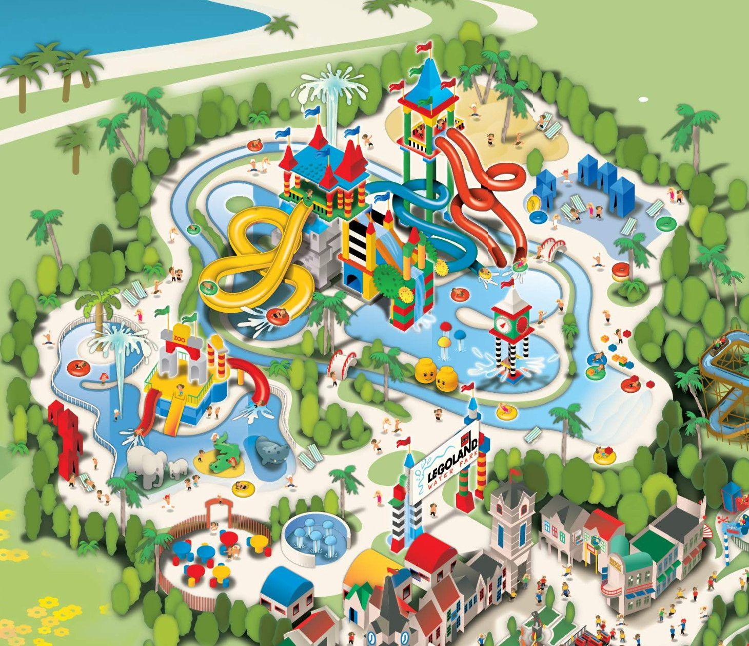 Ebdfabaaadecacb Maps With Zone Of Legoland California Park Map - Legoland California Water Park Map