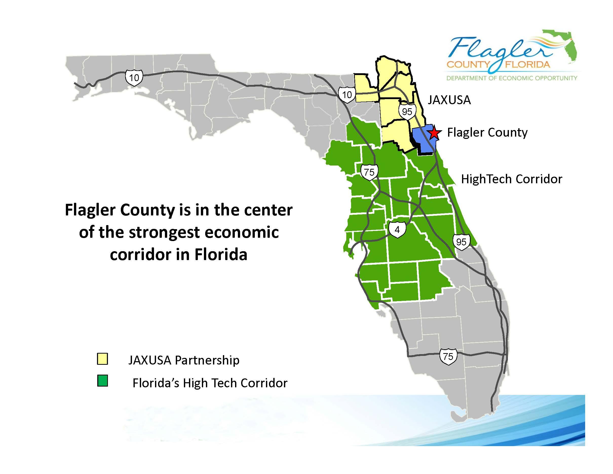 Economic Corridor Map - Flagler County - Florida High Tech Corridor Map