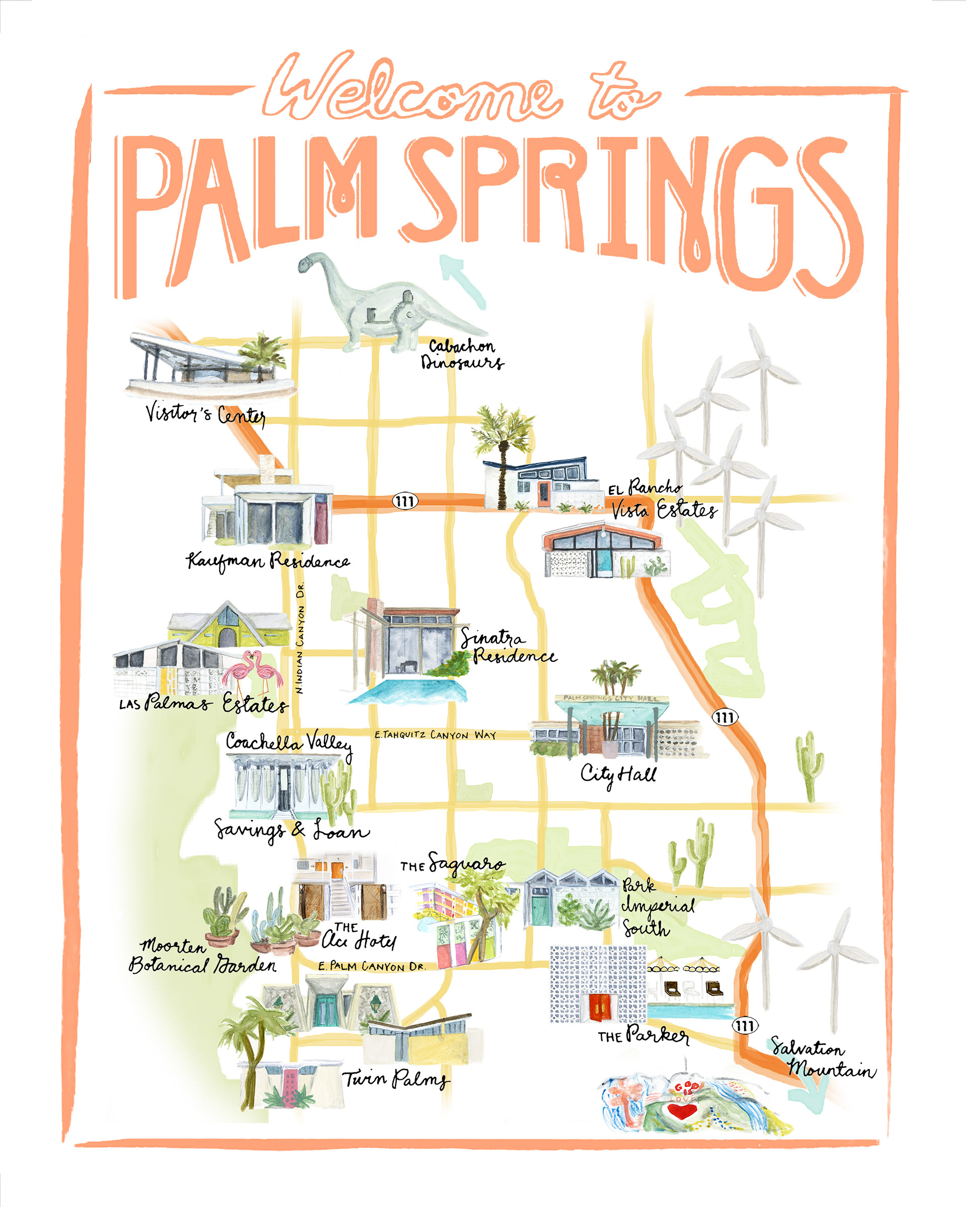 Efcabcfc Rw California Road Map Palm Springs On California Map - Where Is Palm Springs California On A Map