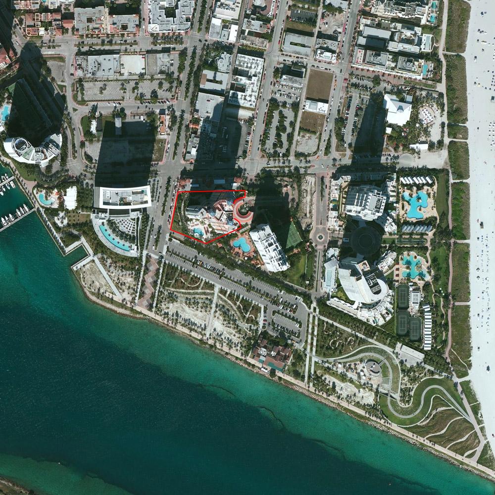 Egs2 Landscape Architecture - Portofino Tower Miami Beach Florida - Portofino Florida Map