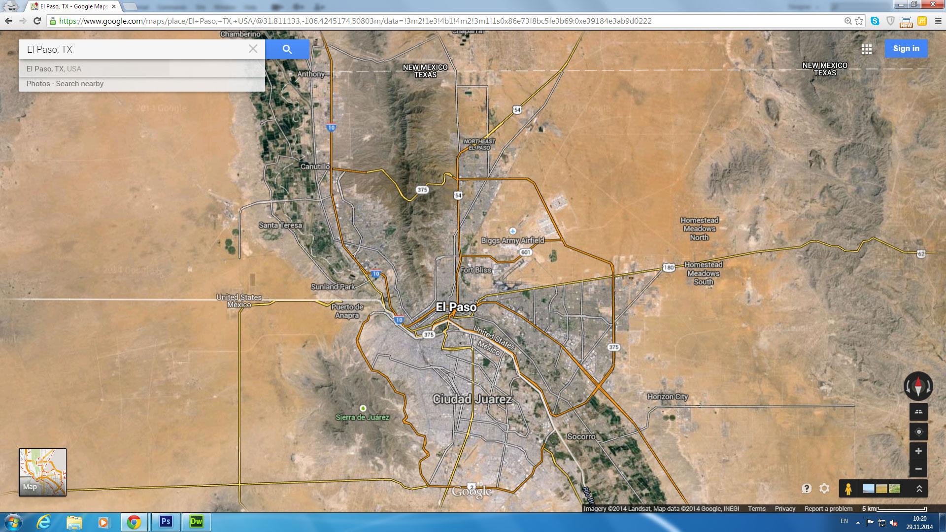 El Paso Maps Satellite Google Maps El Paso Texas | Travel Maps And - Google Maps Satellite Texas