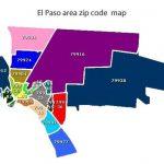El Paso Zip Code Map   Carte De El Paso County Texas (Texas   Usa)   Where Is El Paso Texas On The Map