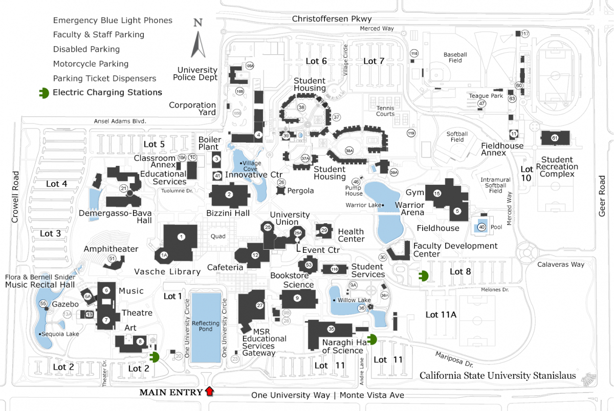 Electric Charging Stations | California State University Stanislaus - Dc Fast Charging Stations California Map