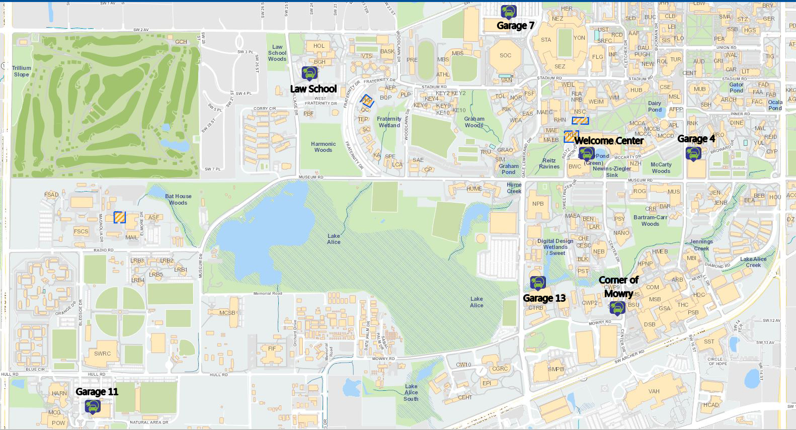 Electric Vehicle Charging Stations Map - Transportation And Parking - Electric Car Charging Stations Map Florida