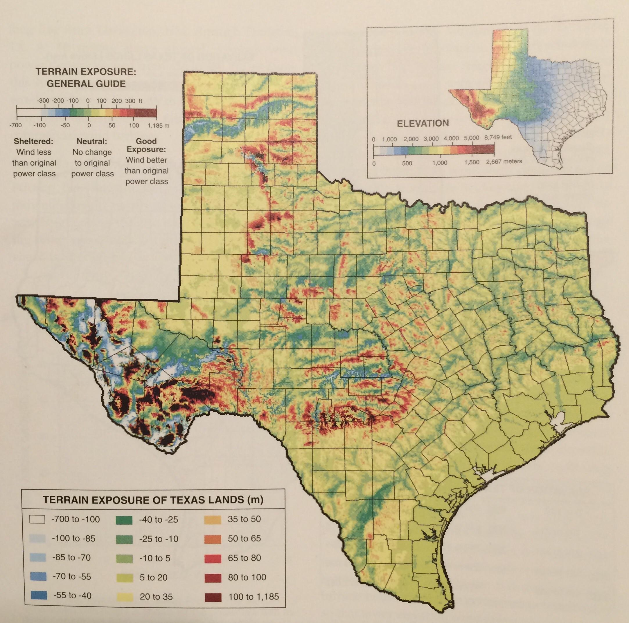 Elevation Map Of Texas | Rtlbreakfastclub - Interactive Elevation Map Of Texas