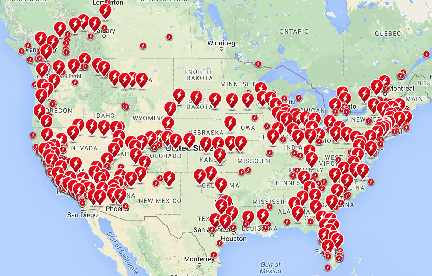 "Elon Musk: Tesla Charging Locations Will Be ""virtually Everywhere - Tesla Charging Stations Map California"