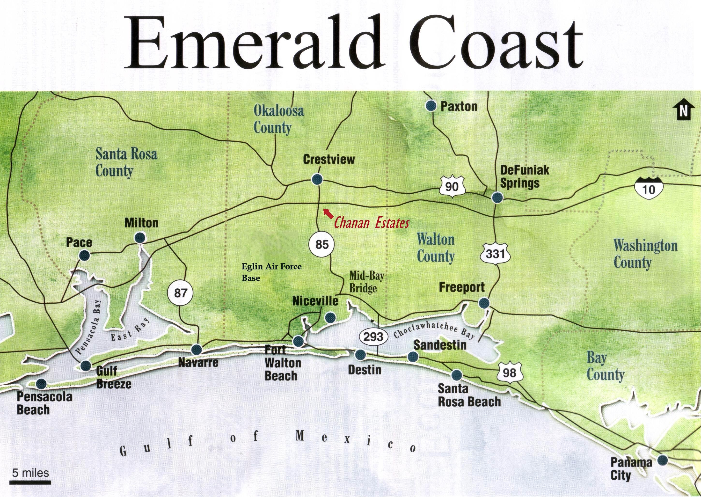 Emerald Coast Condo Buyer | Cash Offer For Condos - Emerald Coast Florida Map