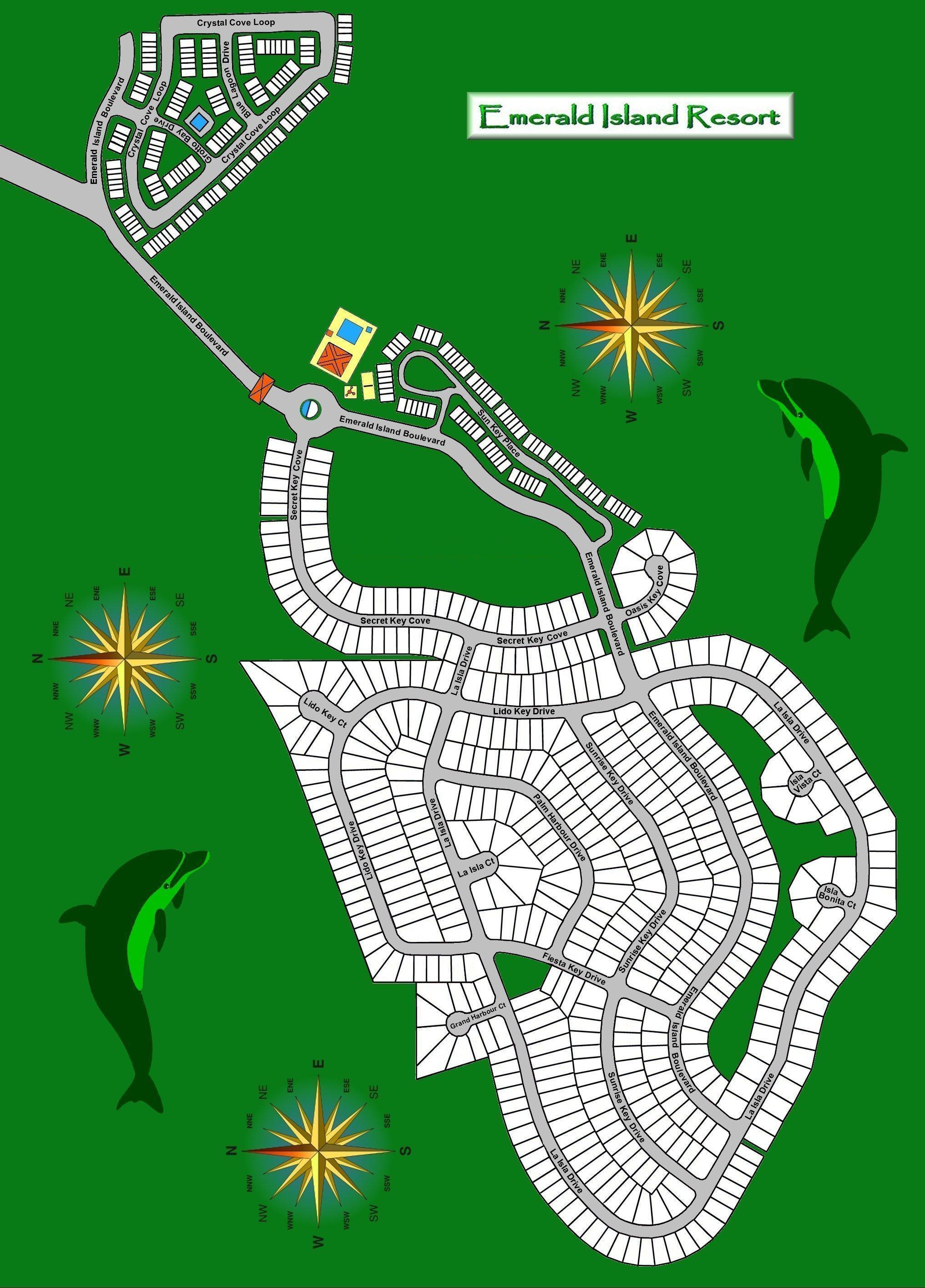 Emerald Island Resort Kissimmee Orlando Florida - Close To Disney Parks - Emerald Isle Florida Map