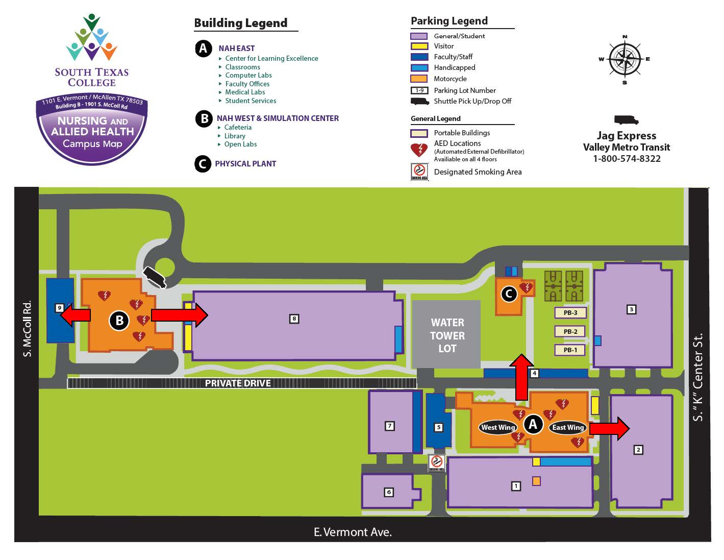 Emergency Preparedness | South Texas College - South Texas College Mid Valley Campus Map