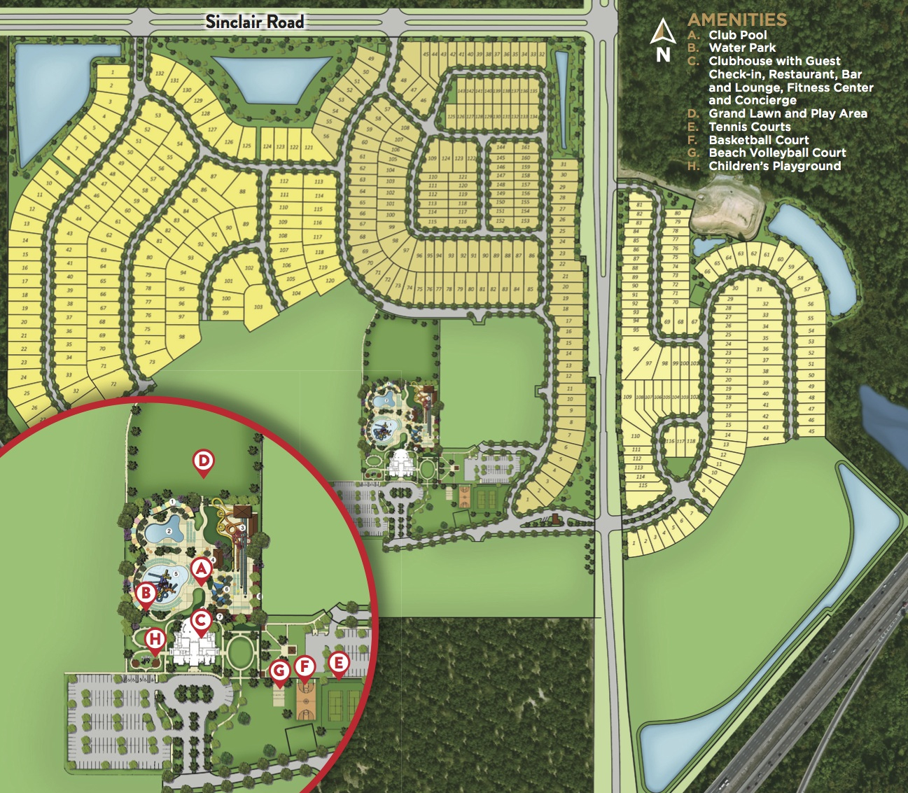 Encore Club Site Map | The Encore Club At Reunion - Map Of Reunion Resort Florida