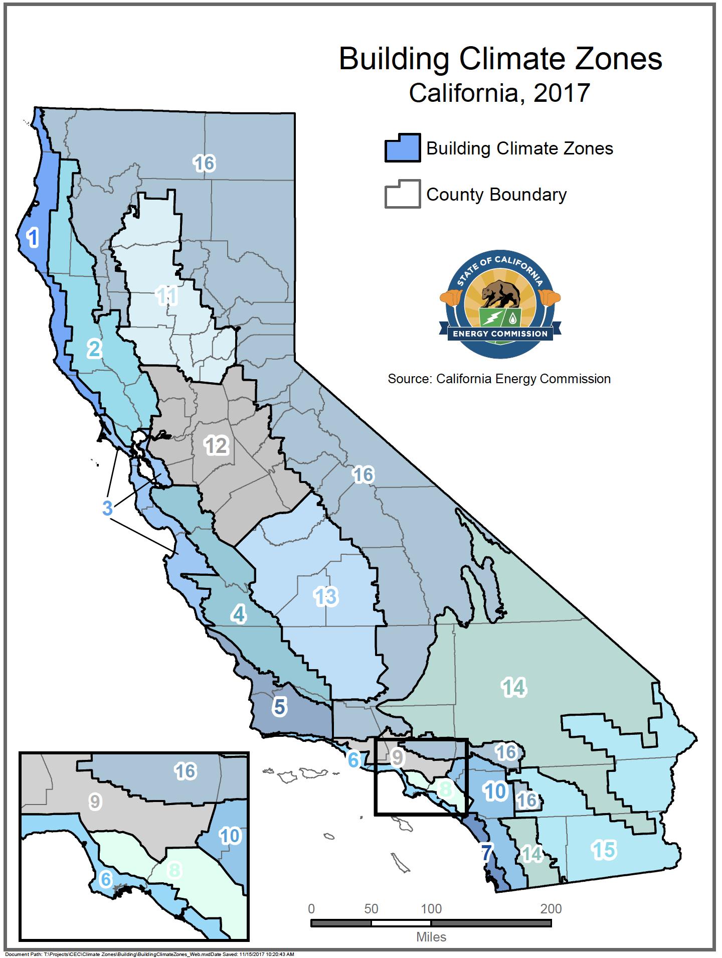 Energy Maps Of California - Califonia Energy Commission - California Heat Zone Map