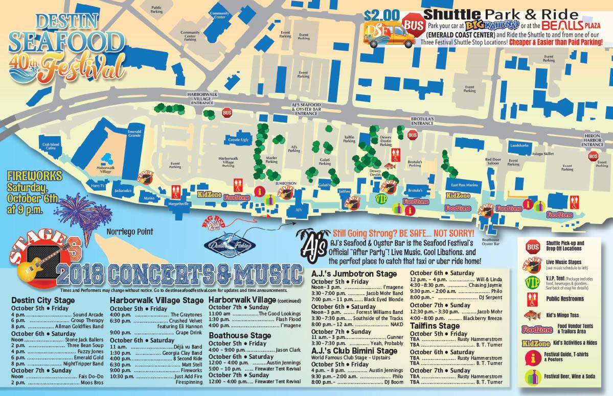Enjoy Fall Festival Season In Destin, Florida - Map Of Destin Florida Area