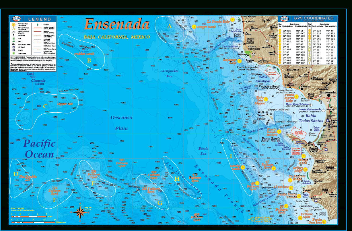 Ensenada - Baja Directions - California Ocean Fishing Map