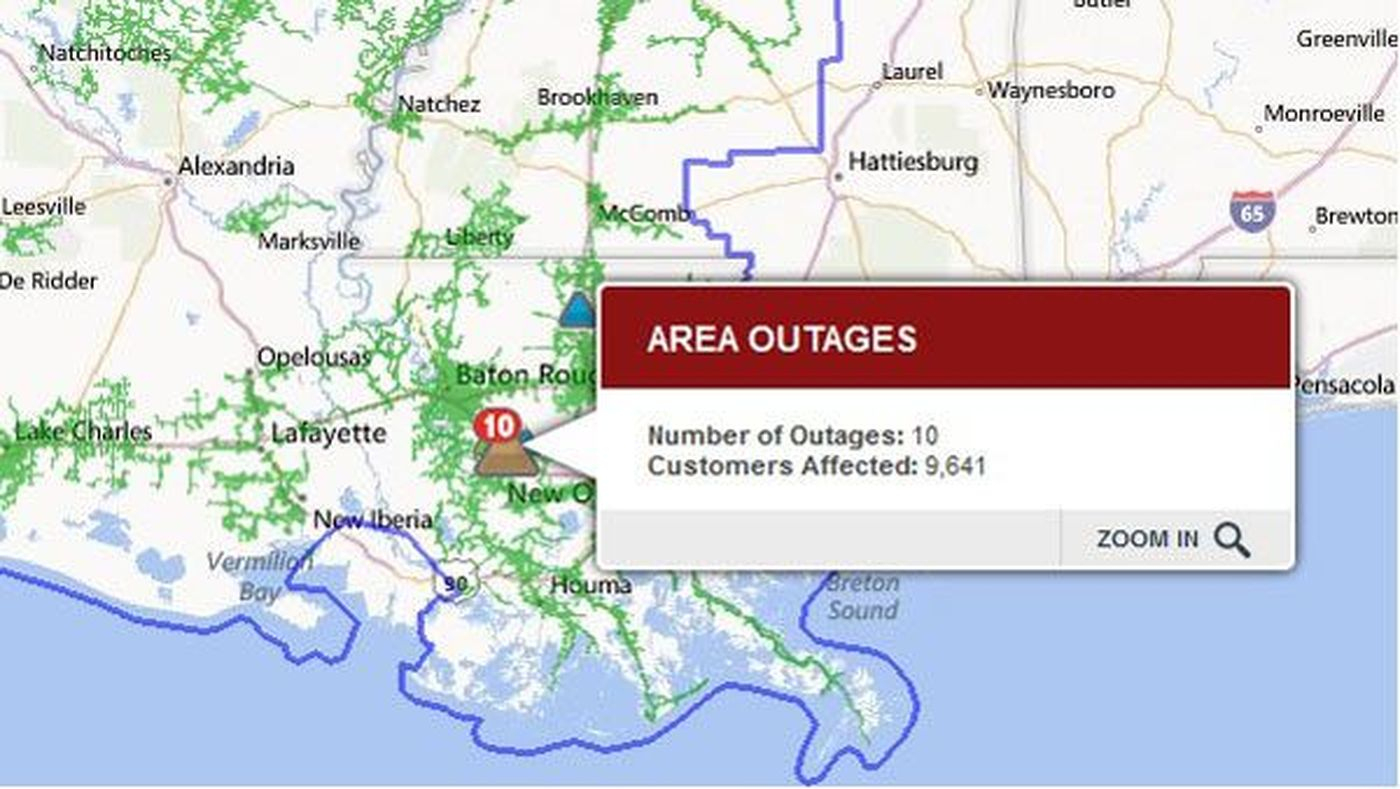 Entergy: Power In Gonzales Should Be Restored8:30 Pm - Entergy Texas Outage Map