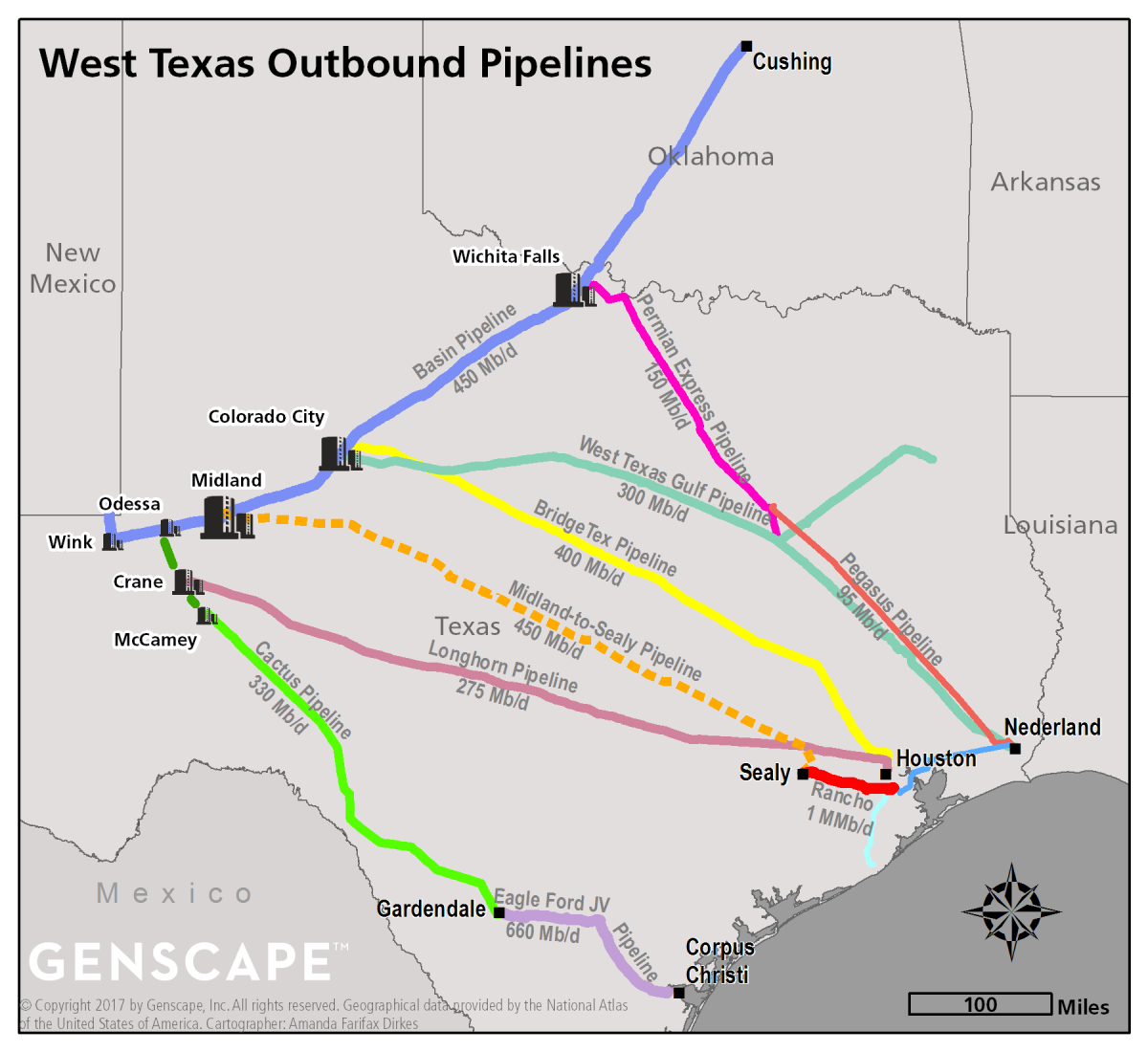 Enterprise Midland-To-Sealy Pipeline Progressing, But Could Face - Sealy Texas Map