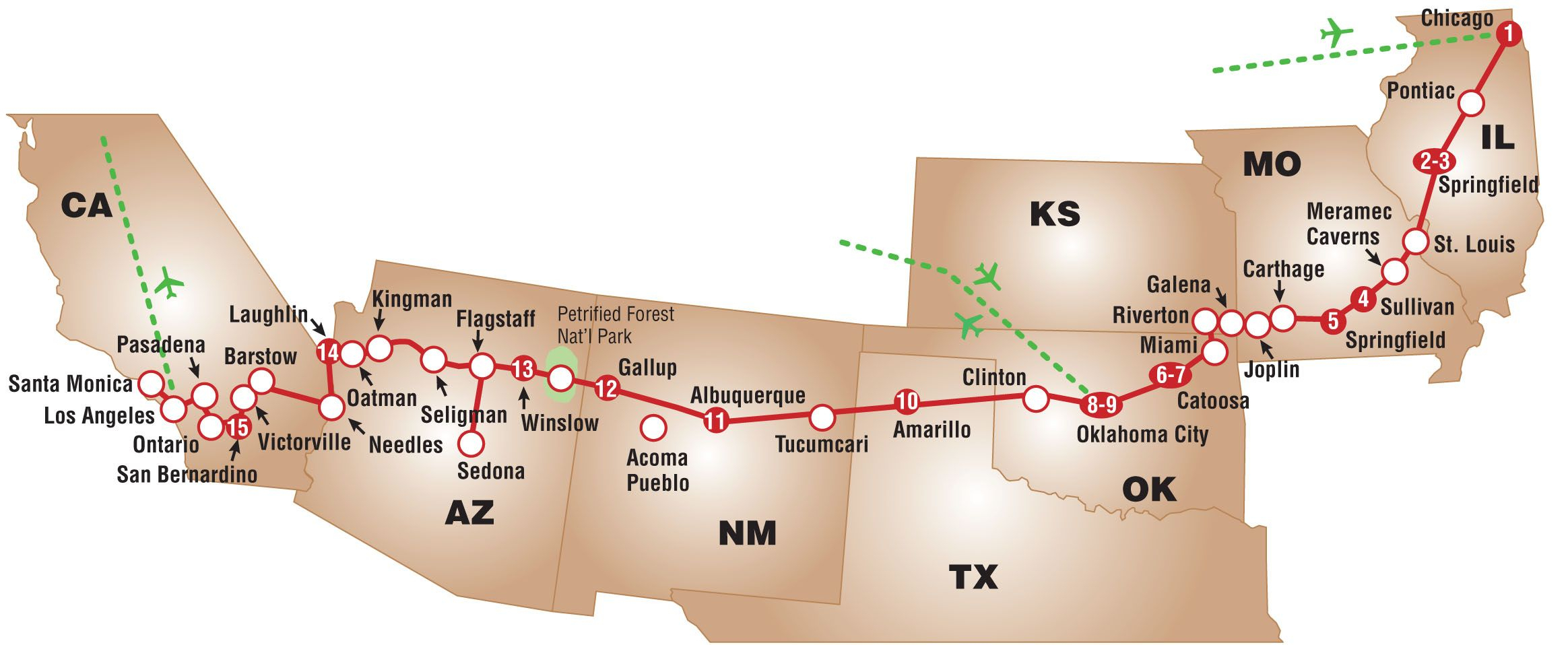 Entire Route 66 Map - Start To Finish | Route 66 | Pinterest | Route - Printable Route 66 Map
