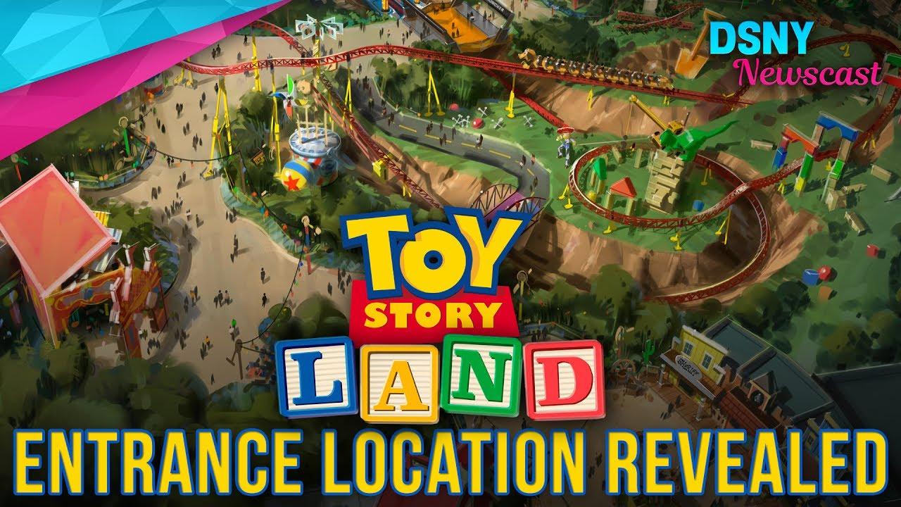 Entrance To Toy Story Land Revealed At Disney's Hollywood Studios - Toy Story Land Florida Map