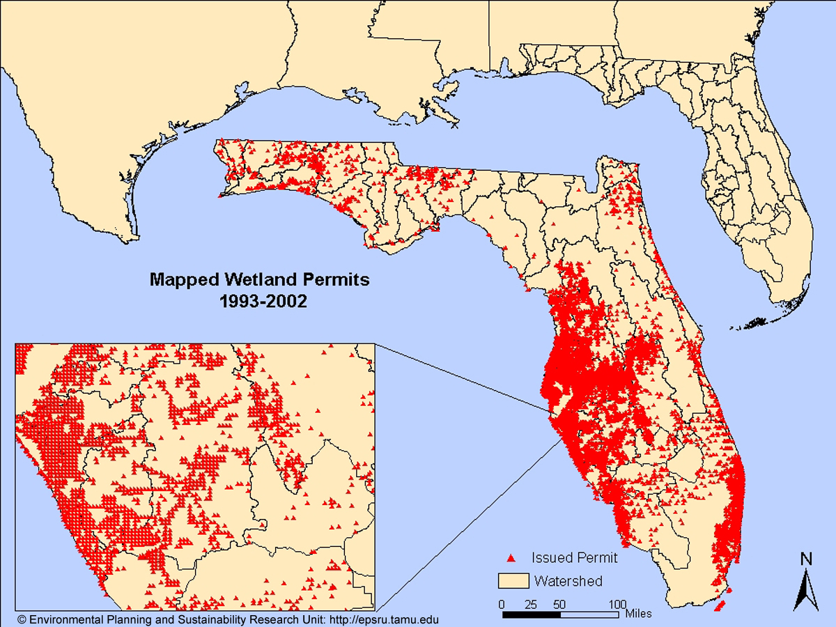 Environmental Research And Sustainability Laboratory - Florida Watershed Map