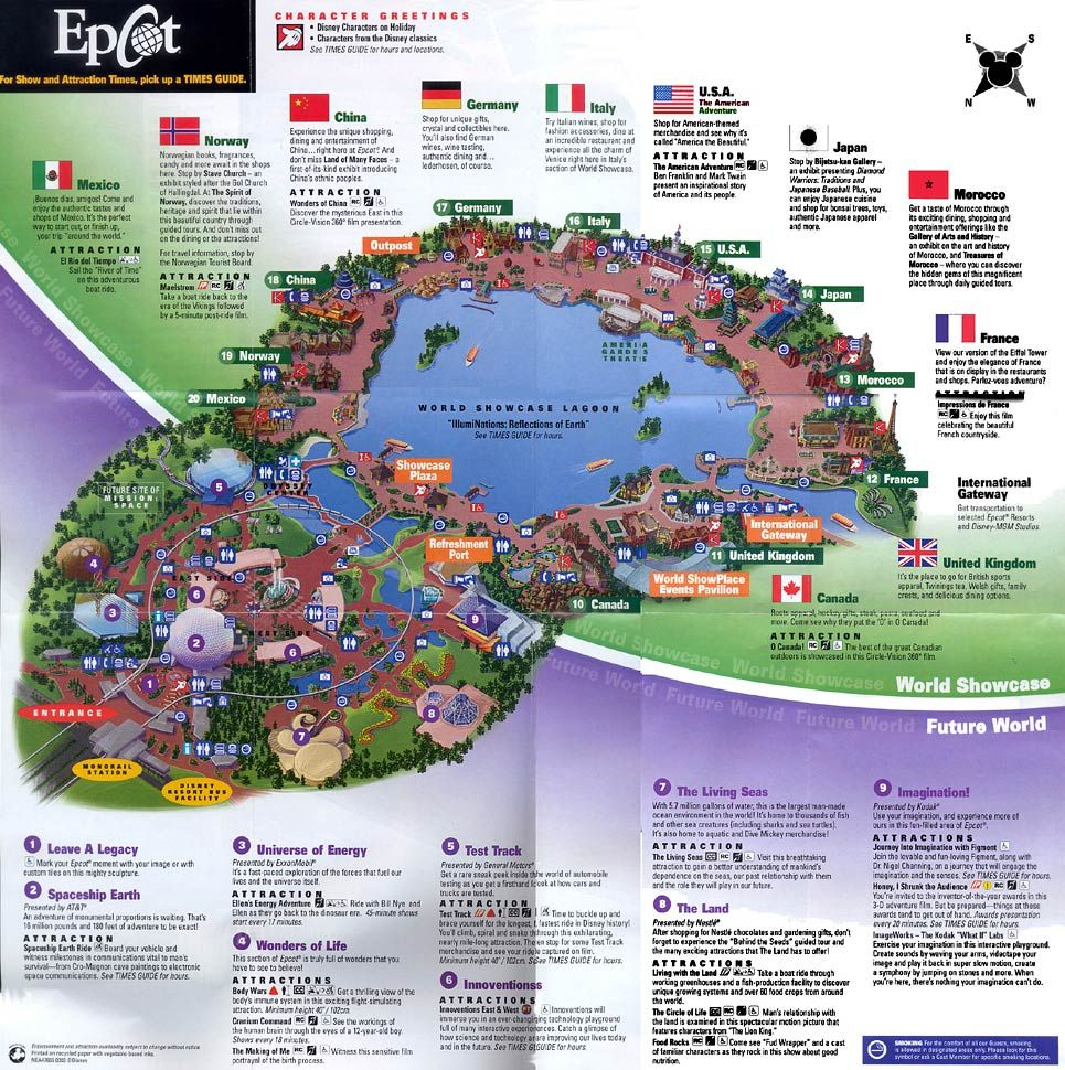 Epcot 2003 | Disney Maps | Pinterest | Epcot Map, Disney Map And - Epcot Florida Map